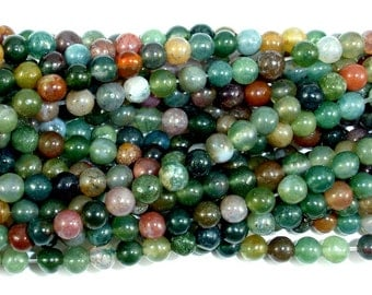 Indian Agate Beads, Fancy Jasper Beads, 4mm(4.5 mm) Round Beads, 15.5 Inch, Full strand, Approx 90 beads, Hole 0.8 mm (282054007)