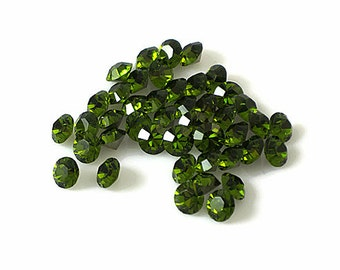 Swarovski Crystal Stone 1028 Olivine F-Foiled SS 24 (5.27mm - 5.44mm) Round