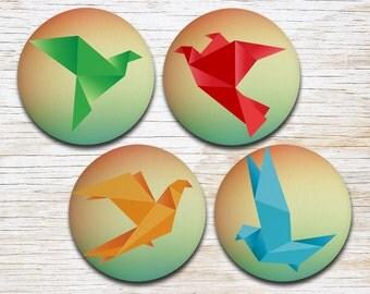 Origami Coasters - Origami Birds - Drink Coasters - Decorative Coasters