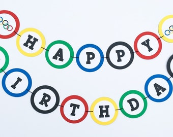 Olympic Inspired Banner | Olympic Inspired Garland | Olympic Birthday | Olympics Party | Custom Olympics Saying | Olympic Inspired Theme