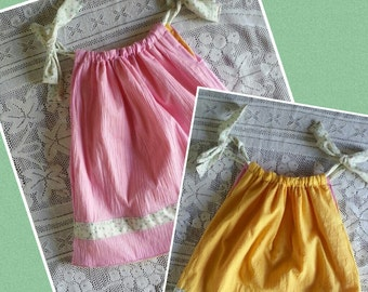 Baby  Dress - Girl Dress - Handmade Dress - Reversible - sz one