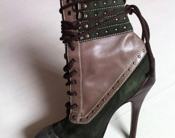 Antonio Marras original ankle boots. Multicolor. Lace up. Amazing! Used once!