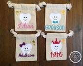 Tooth Fairy Bags - Tooth Fairy Kit - Personalized Tooth Fairy Bags - Tooth Fairy Pouch  - First Tooth - Small Tooth Fairy Bags - Tooth Bag