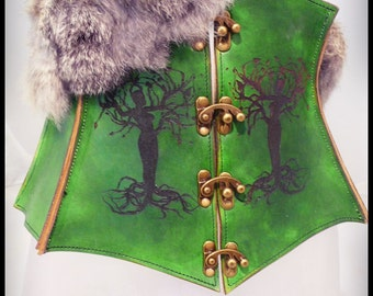 leather corset belt Yggdrasil - vegetable tanned leather -