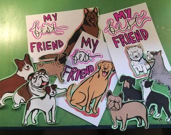 all dogs - my best friend art print