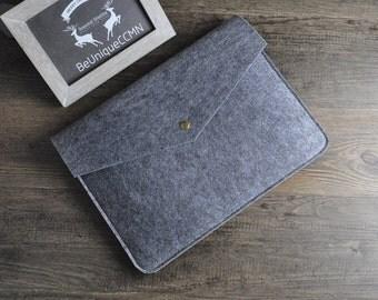 Macbook Sleeve,Felt 13 inch Laptop Case,Macbook Pro Case,Pro Retina 13,Macbook Sleeve 13,Laptop Sleeve,Macbook Air Sleeve,Grey Case Sleeves