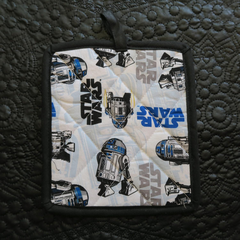 R2D2 Star Wars Potholder Geeky Wedding Gift By Eclectanerd