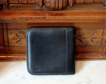 Coach Black Leather CD DVD Case- EUC