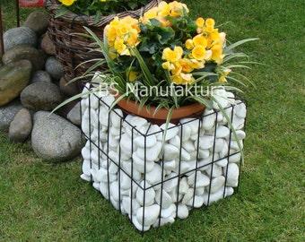 Gabion metal flower pot planter box