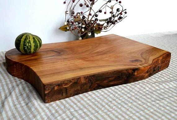 Live Edge Cutting Board Live Edge Wood Ash Wood Cutting