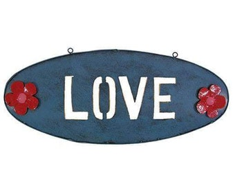 Love and Peace signs wall hangings