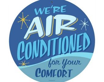 Air Conditioned Retro Metal Sign