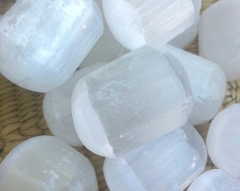 Selenite Stones* Polished Selenite* Gypsum* Small Crystal* White Crystal* Cleansing* Meditation* Unique Gift