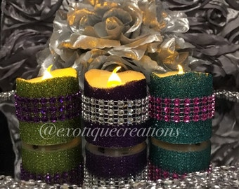Glitter and Bling Led Votives- Flameless Candles