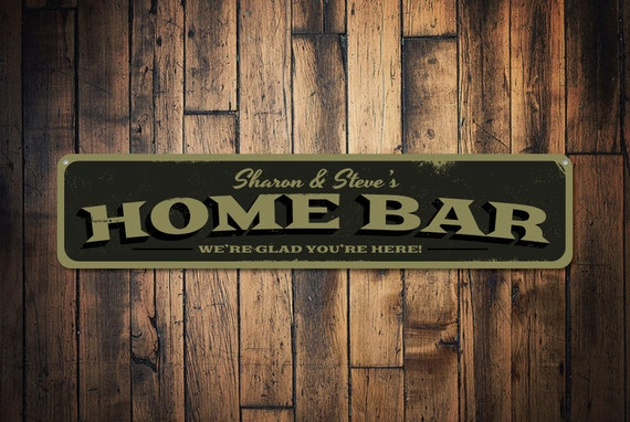 Custom Glad You Re Here Custom Glad You Re Here Bar Sign Personalized Home Bar