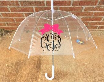 KIDS monogram clear dome umbrella monogrammed easter gift basket