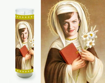 Peggy Olson Prayer Candle - Mad Men Gift - Religious Style Candle - Fan Art
