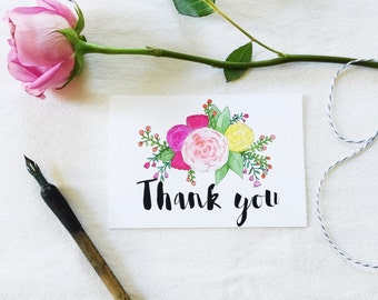 Thank you card, printable, diy wedding invitation suite, custom wedding template