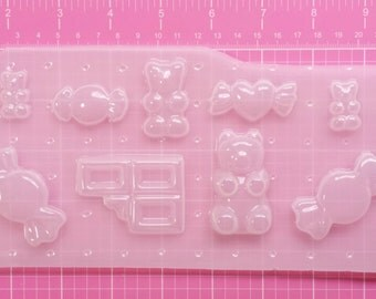Candy Mold Palette, Gummy Bear Mold, Candy Bar Mold, Chocolate Bar Mold, Kawaii Mold, Decoden Mold, Plastic Candy Mold, Resin Mold