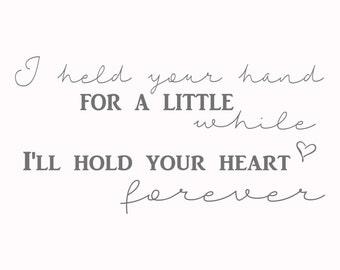 I held you hand print