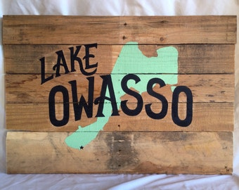 Personalized Lake House Decor - Hand Painted, Wood Pallet Sign