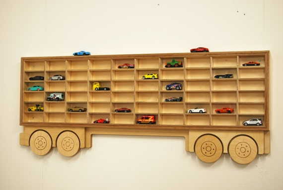 Toy Car Shelves : Toy car display shelf trailer only model shelving unit