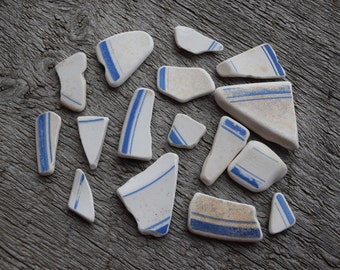 Beach Pottery Sea Pottery Beach finds 16 pieces