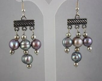 earrings, pearl earrings, dangle earrings, drop earrings, pearl drop earrings, pearl dangle earrings, handmade jewelry