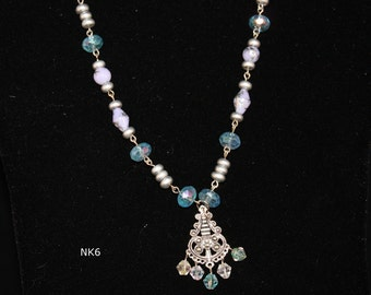 necklaces, pendant necklaces, beaded necklaces, pastel colored necklaces, handmade jewelry