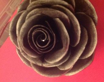 Black paper rose
