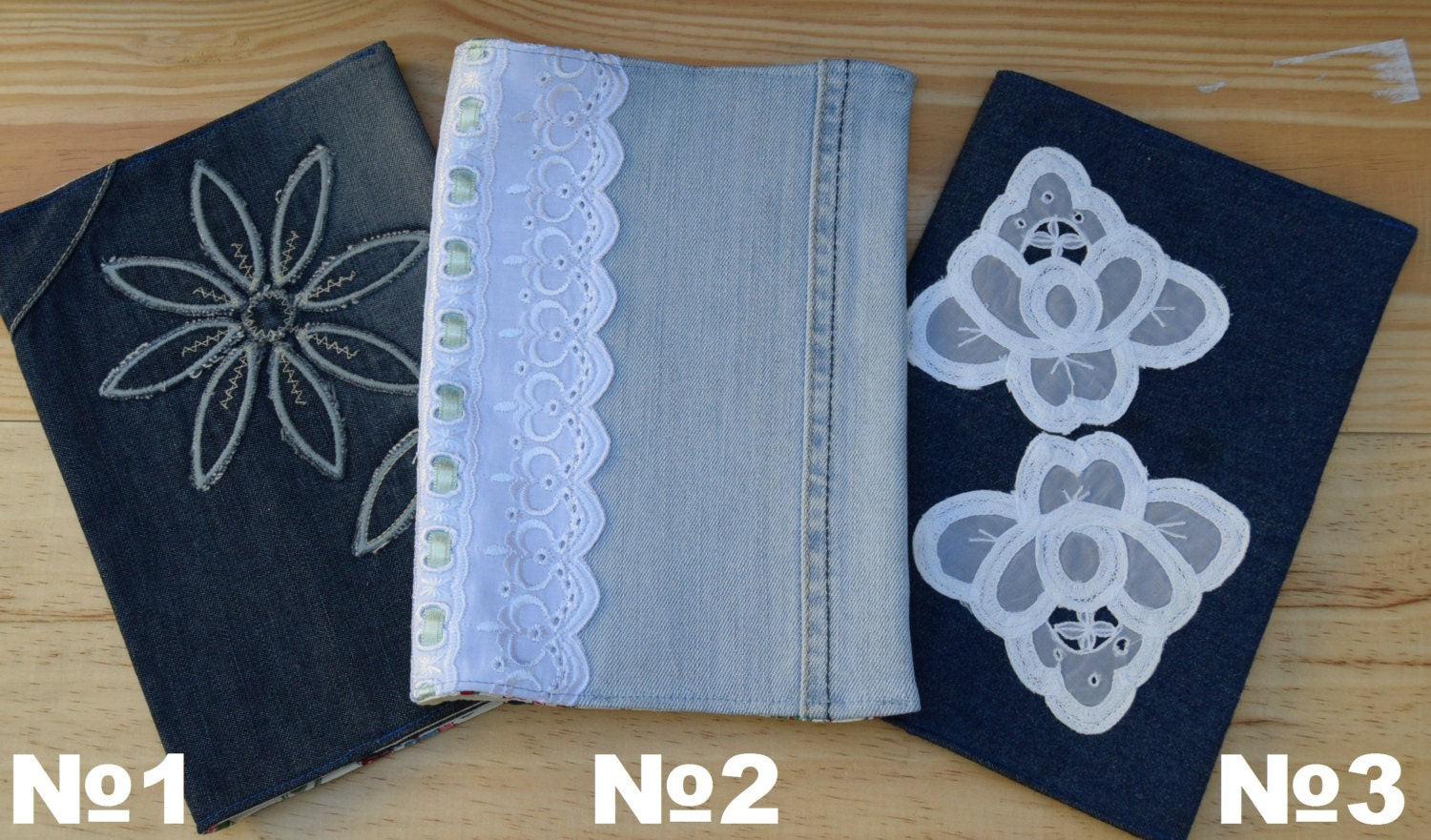 Fabric book cover denim book cover modern notebook cover