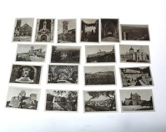 Vintage Postcards - Italy photographs - PISA - BLaCK and WHiTe souvenirs PHoToGRaPHS - mini postcards
