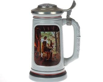 Vintage AVON Train Mug Stein - THE BLACKSMiTH - ceramic train mug - BEER glass