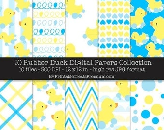 50% OFF Rubber Duck Digital Papers