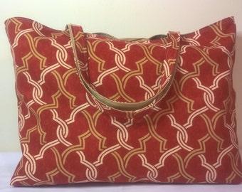 Tote Bag, Handmade Tote Bag, Lined Tote Bag, Canvas Bag, Carry All Bag, Beach Bag, Large Tote Bag, Fabric Tote Bag