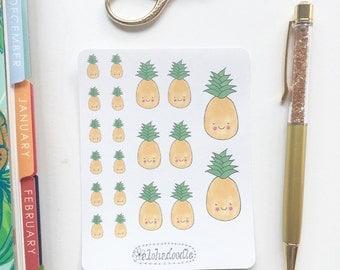 Hawaiian Pineapple Planner Stickers