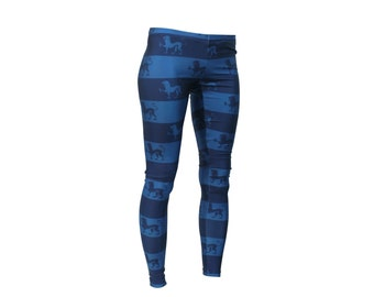 INTRODUCTORY PRICE Lion Stripes in Blue Leggings plus size available