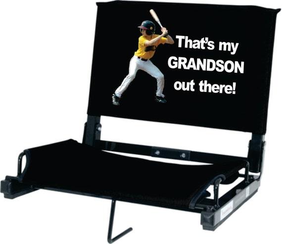 get the original patented stadium chair custom printed now del