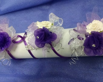 ARM CORSAGE in a beautiful purple