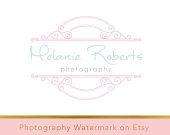 Instant Download Logo - DIY Pre-made Logo Design - Photography Watermark - Fotografie logo - Editable Logo Template - Photography Logo  183