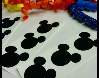 12 (2inch) DIY Vinyl Mickey Decals!, Mickey Mouse Party Stickers