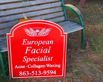Small Business Signs Custom Designed PVC Board Engraved Painted