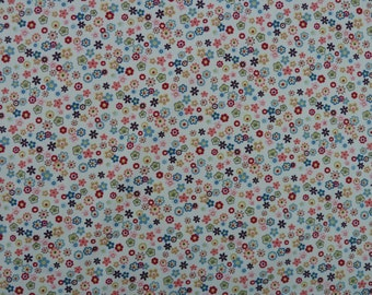 Retro Ditsy Fabric - Multi-Coloured Floral - 100% Cotton Poplin - Quilting, Dressmaking, Soft Furnishings, Crafts