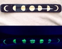 Glow-in-the-Dark Moon Phase Incense Burner