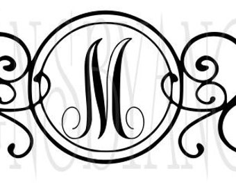 Mail Box Frame  Front Door Monogram Initials  SVG Digital cutting file  Instant Download - Use on your cutting machine Vector MailBox