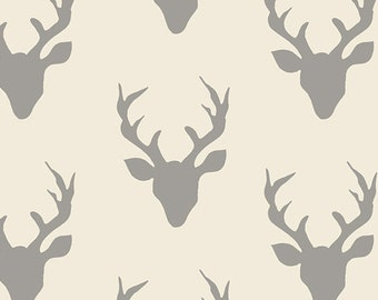 HELLO, BEAR - Buck Forest Silver - by Bonnie Christine for Art Gallery Fabrics HBR 4434 2 - Gray