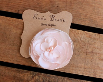 Wedding Hair Accessory/ Blush Pink Flower Hair Clip/ Women- Girl- Toddler Hair Clip/ Flower with Pearls Hair Clip/ Hair Flower Accessories