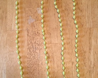 paper bead necklace - yellow