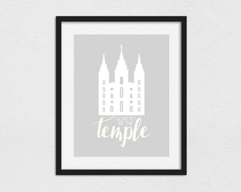 I Love to See the Temple Print // Instant Download // Printing Services Available // Faux Gold (Matte) // Gold Foil (Metallic) // Custom