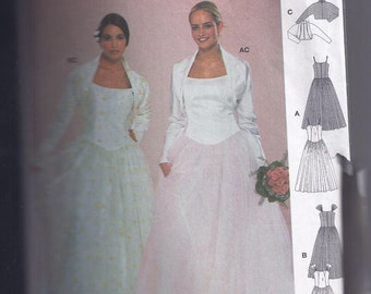 Wedding Dress Pattern 1990s